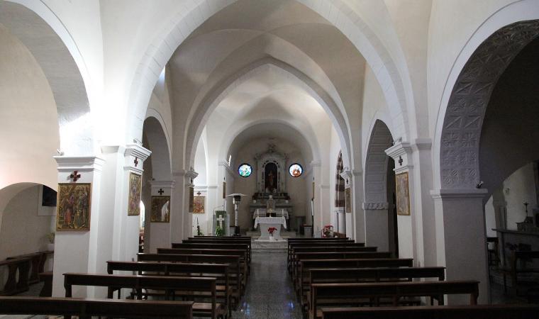 Parrocchiale di santa Margherita, interno - Laerru