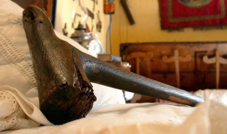 Martello della agabbadora nel museo etnografico Galluras - Luras