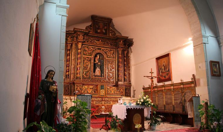Chiesa della Madonna del Rosario, interno - Martis