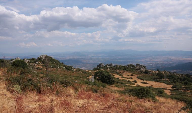 Monte Rasu, veduta valle del Tirso - Bono