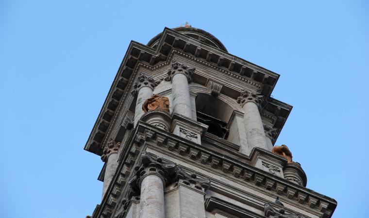 Chiesa di santa Caterina, dettaglio campanile - Mores