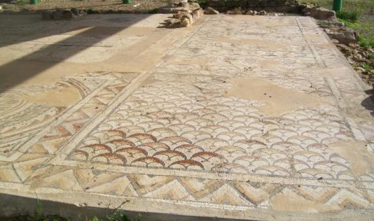 Mosaico policromo di san Cromazio - Villaspeciosa