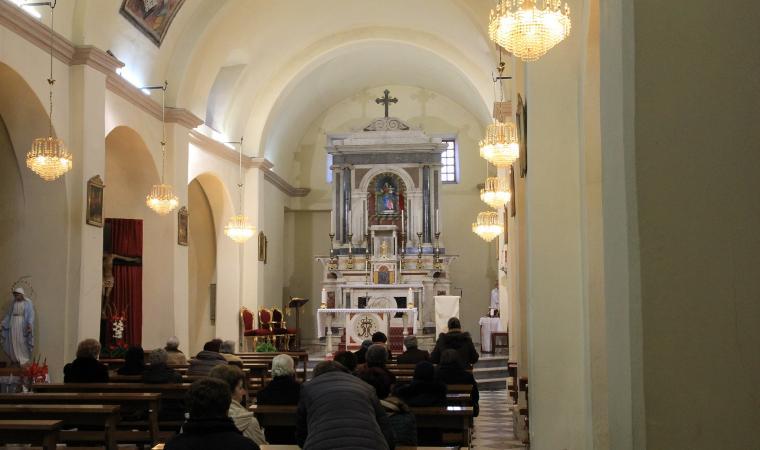 Parrocchiale della Beata Vergine della Neve, interno - Pabillonis