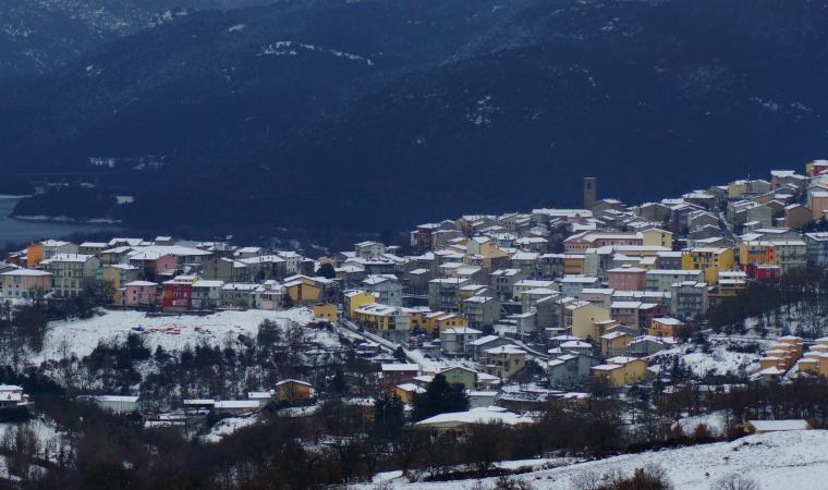 Panoramica con la neve - Gavoi