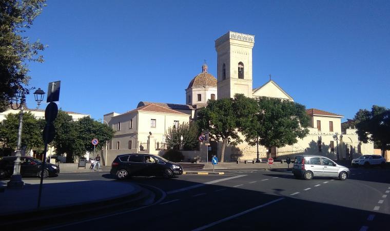 Parrocchiale di san Biagio dal municipio - Villasor