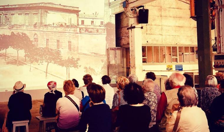 Proiezione video nell'ex falegnameria - Saline Conti Vecchi
