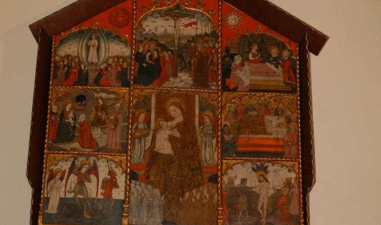 Retablo della Pestilenza, chiesa santa Barbara - Olzai
