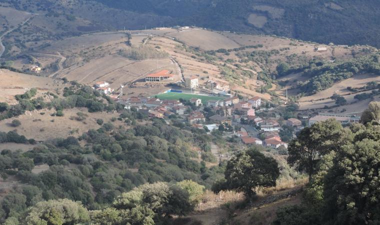 Veduta dall'alto  di San Nicolò Gerrei
