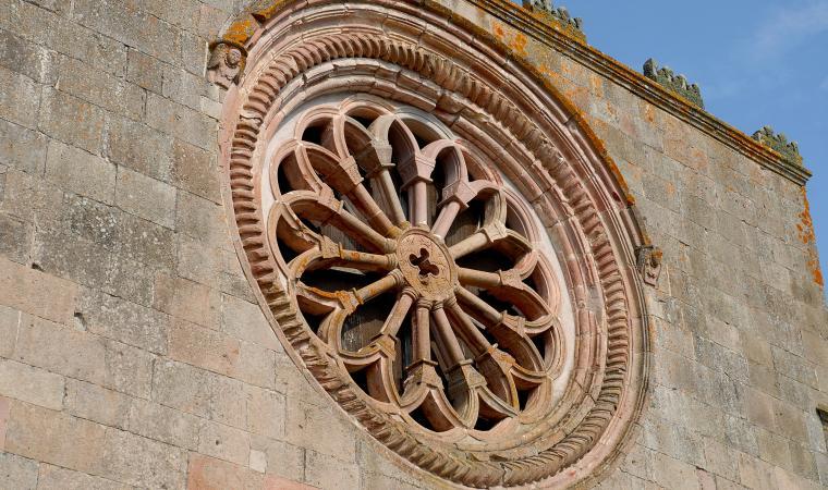 Santuario di san Mauro, rosone - Sorgono