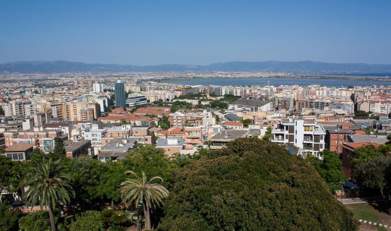 Veduta dalla terrazza Umberto I - Cagliari