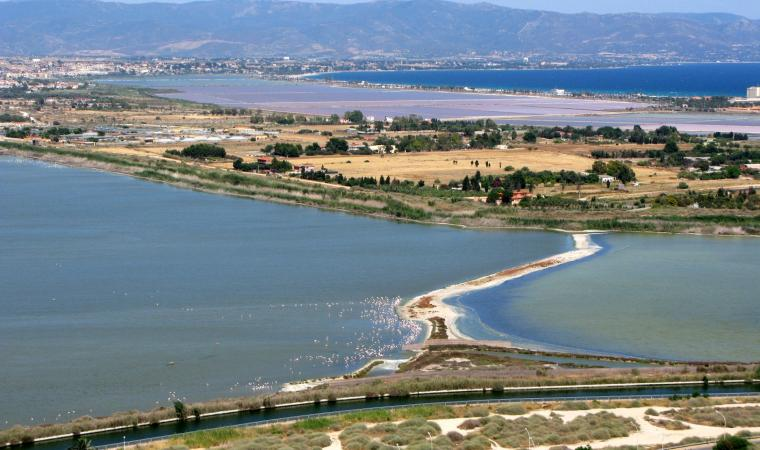 Parco Naturale di Molentargius, veduta saline e Molentargius - Cagliari