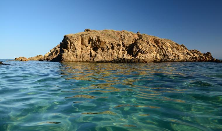 Spiaggia di Su Giudeu, l'isolotto - Chia