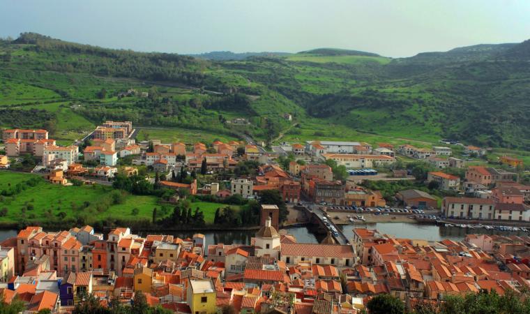 Bosa veduta dal Castello dei Malaspina