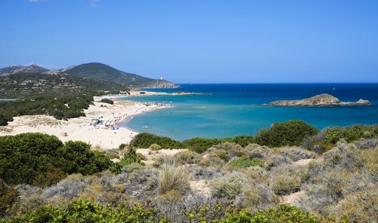 Spiaggia Su Giudeu, veduta - Chia