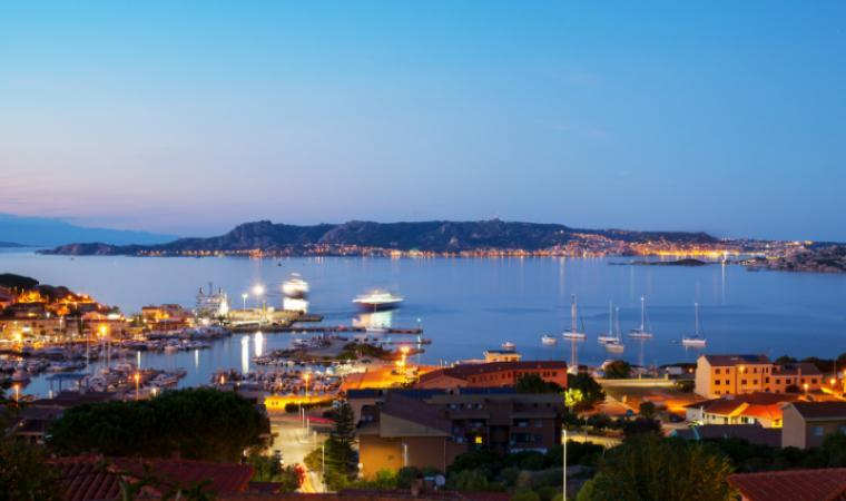 Palau - porto in notturna