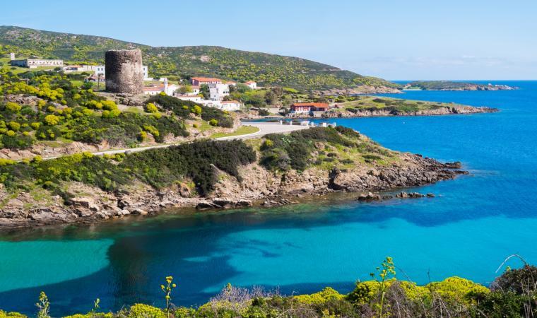 Parco Nazionale dell'Asinara, veduta Cala Oliva - Stintino