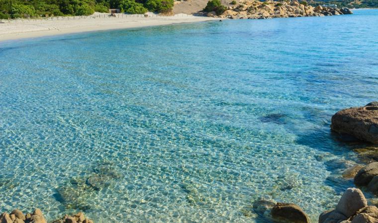 Spiaggia di Porto Giunco, particolare acque - Villasimius
