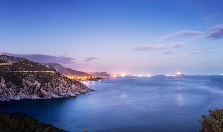Golfo degli angeli al tramonto