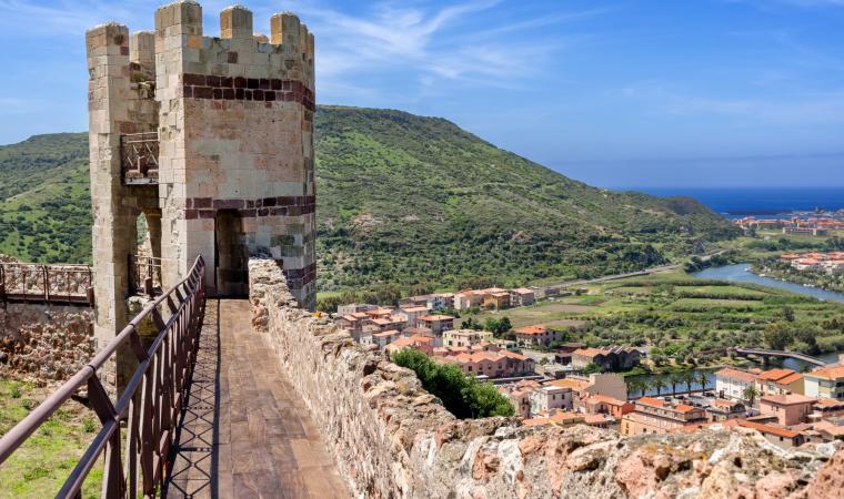Bosa - veduta dal castello