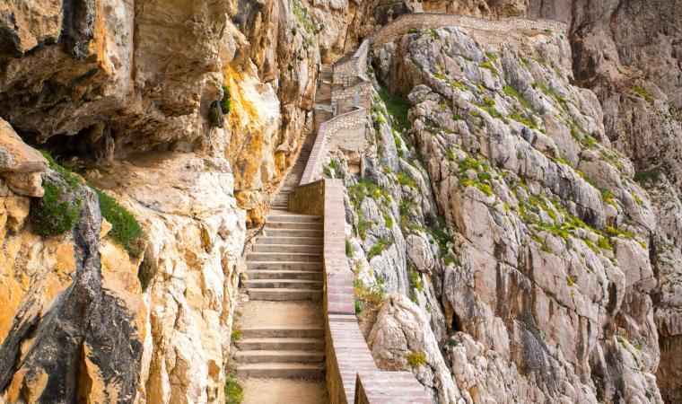 Grotte di Nettuno, scale - Alghero
