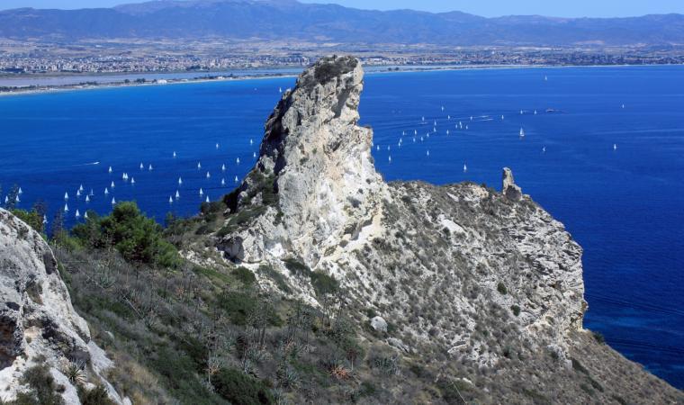 Spiaggia del Poetto dalla Sella del Diavolo - Cagliari