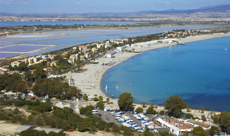 Poetto, veduta dalla Sella del Diavolo - Cagliari