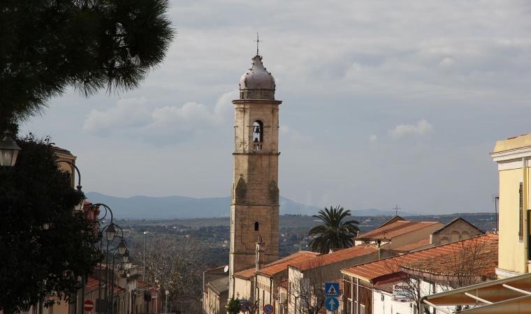 Veduta di Tissi chiesa di santa Anastasia - Tissi