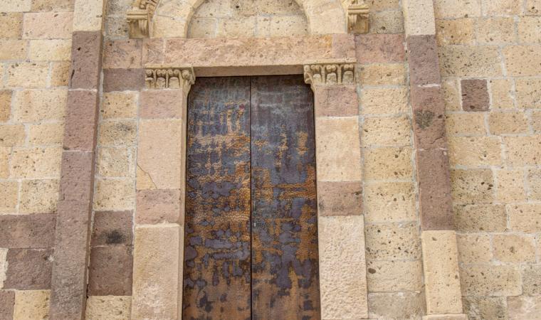 Chiesa di santa Maria, dettaglio facciata - Tratalias