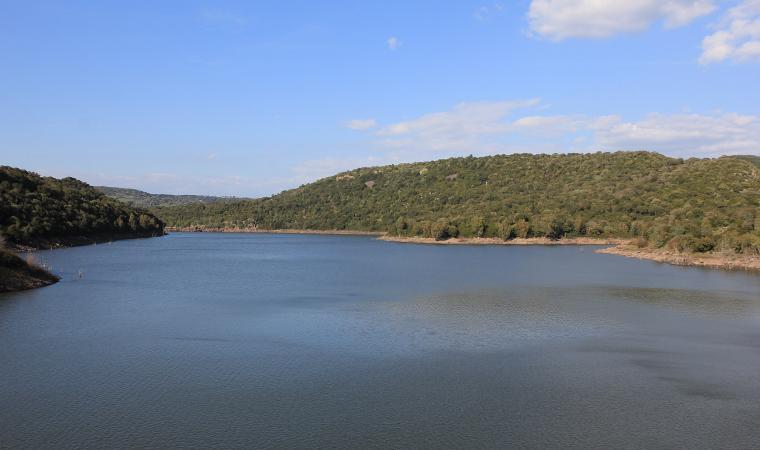 Veduta del lago Omodeo - Ulà Tirso