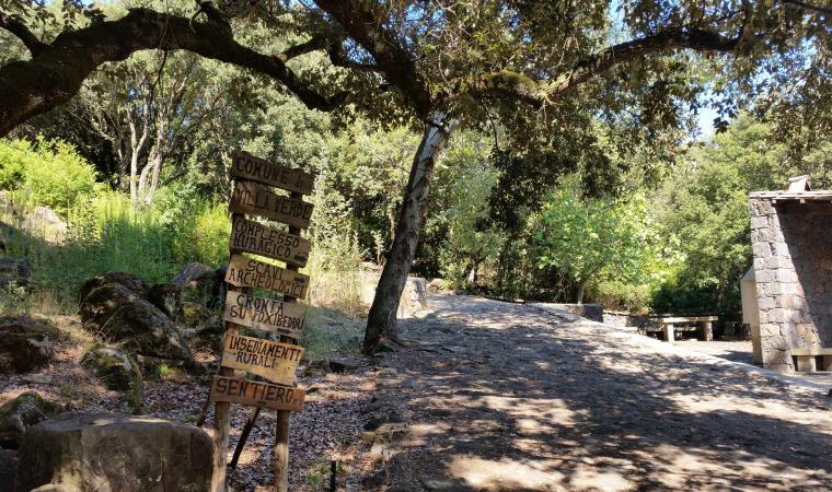 Sentiero per il villaggio Brunk'e s'Omu - Villa Verde