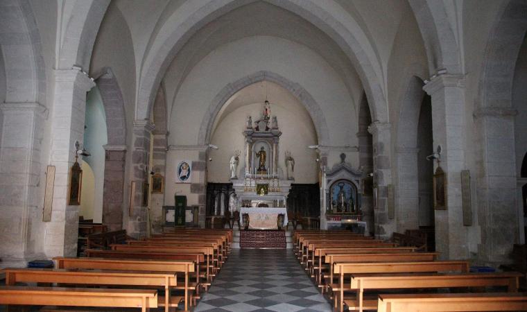 Parrocchiale di san Leonardo da Limoges, interno - Villanova Monteleone