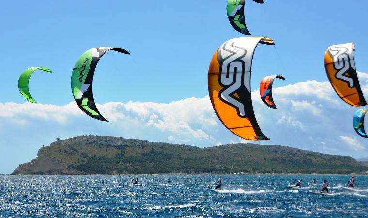 Kite surf al Poetto - Sella del diavolo