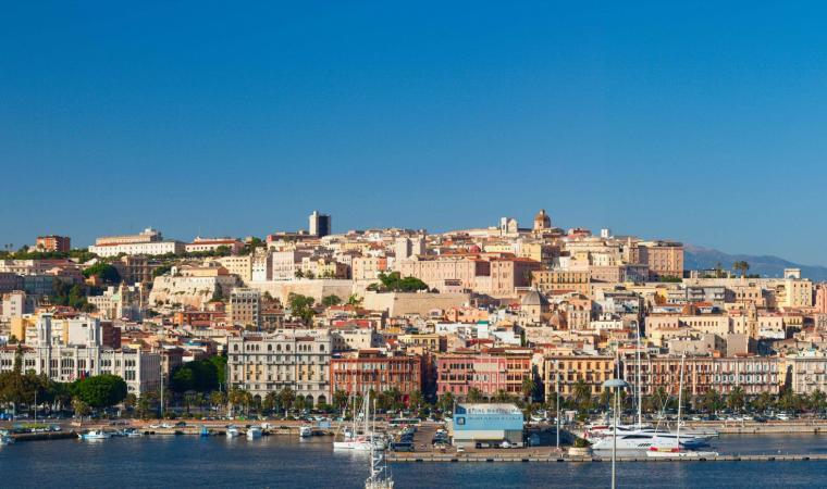 Cagliari veduta dal mare