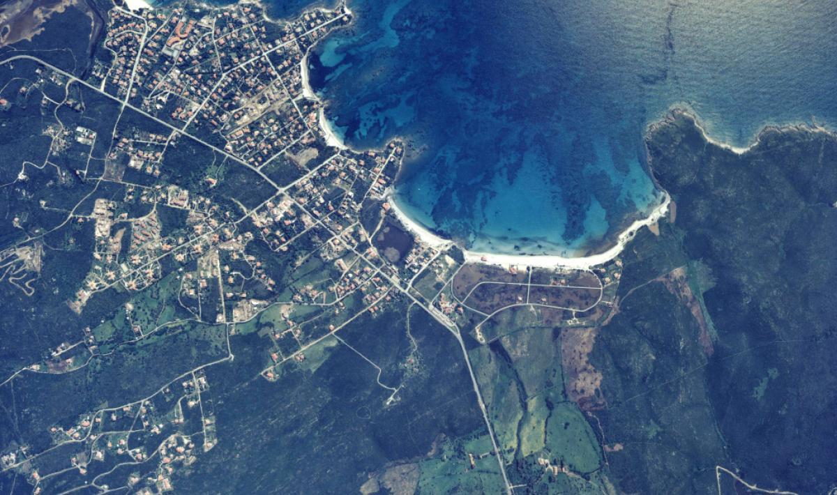 Olbia, foto aerea del litorale di Pittulongu