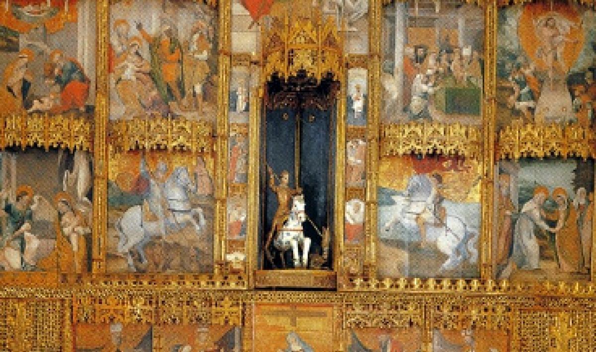 Perfugas, retablo di San Giorgio (particolare)