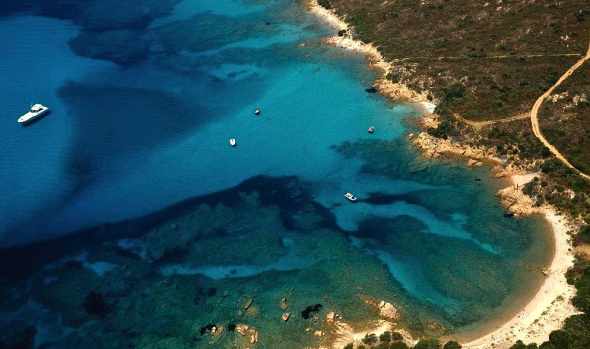 Spiaggia Razza di giunco, veduta aerea