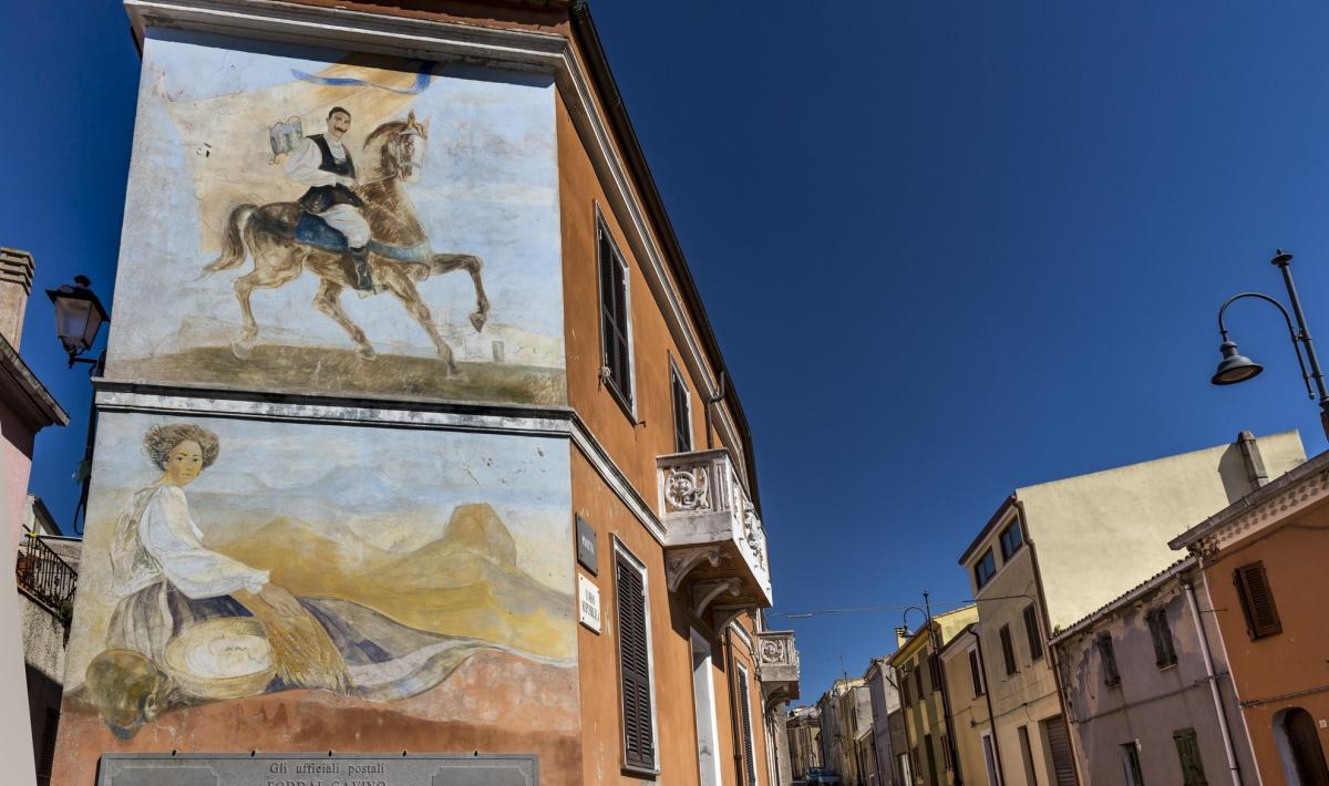 Murales, centro storico - Giave