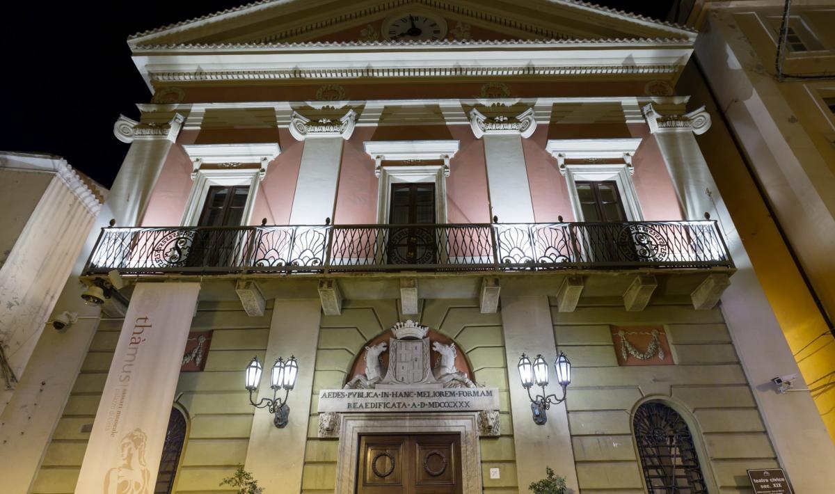 Teatro Civico, facciata esterna - Sassari