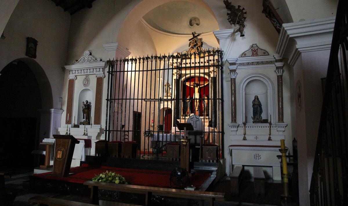 Chiesa del Santissimo Crocifisso, interno - Galtellì