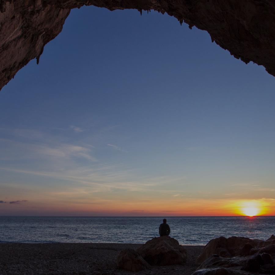 Cala Luna al tramonto