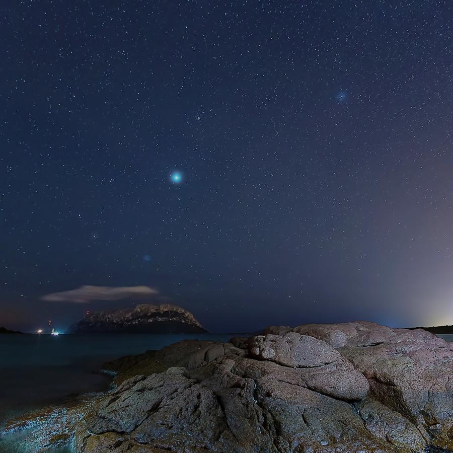 Il cielo di notte sull'isola di Tavolara