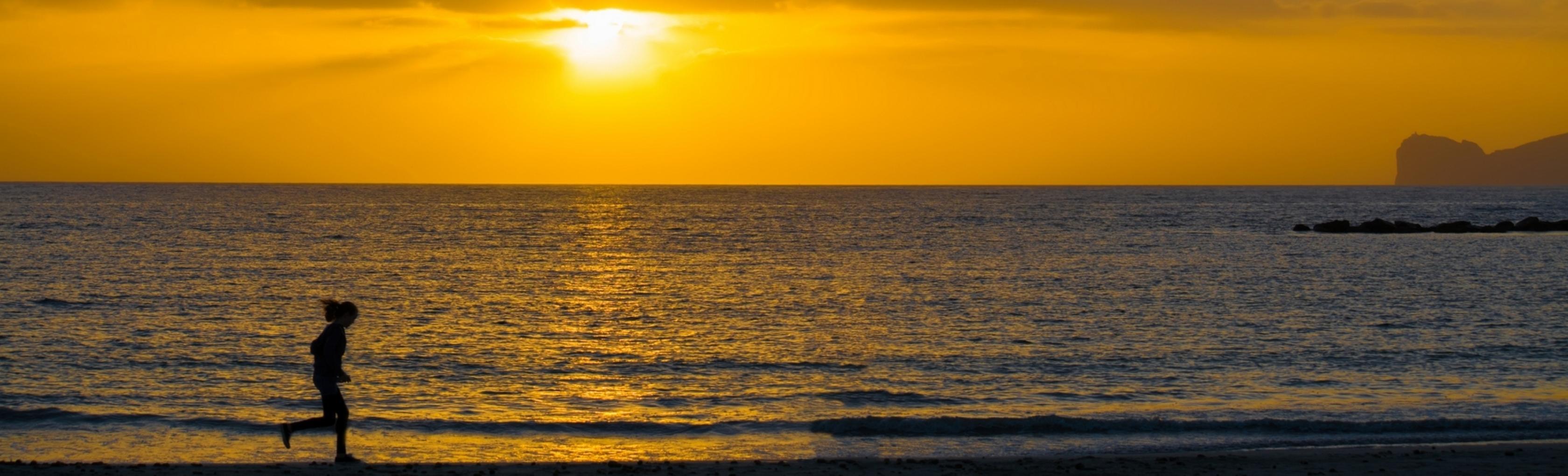 Corsa Alghero tramonto